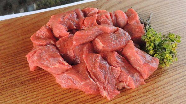 Diced best beef pieces 1