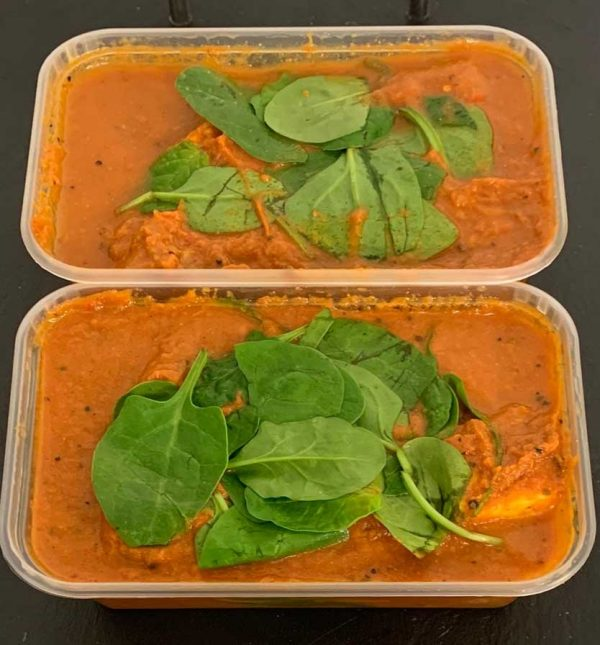 Vegetarian Roasted Paneer Curry with Cauliflower, Chickpeas & Spinach (650g) 1