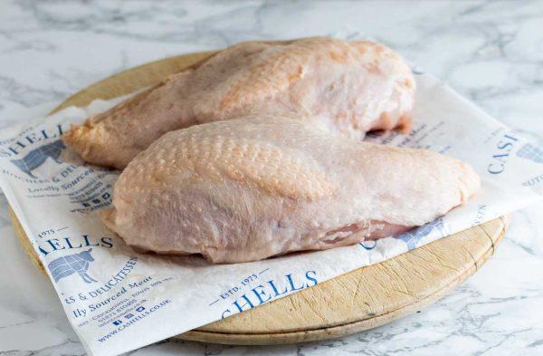 Free-range chicken breasts x 2 (550g) 1