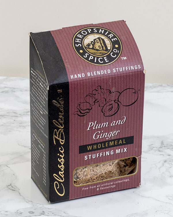 Shropshire Spice Co. plum & ginger stuffing mix