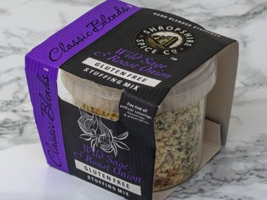Shropshire Spice Co. wild sage and roast onion stuffing mix Gluten Free