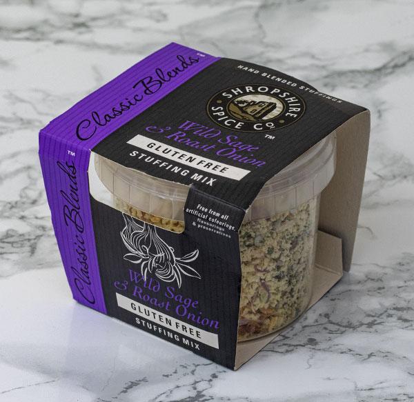Shropshire Spice Co. wild sage and roast onion stuffing mix Gluten Free